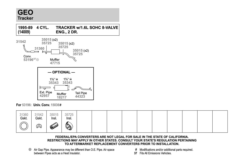 Catalytic Converter-EPA Standard Direct Fit Converter Walker 53196