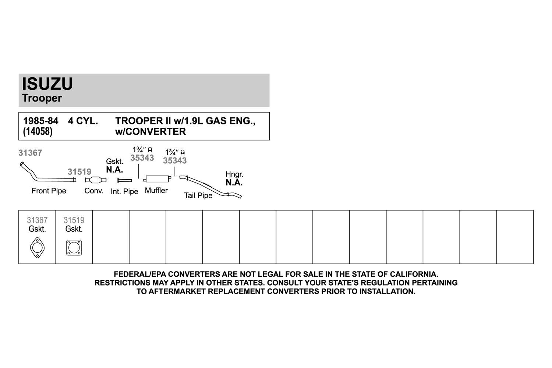 Walker 31519 Exhaust Gasket