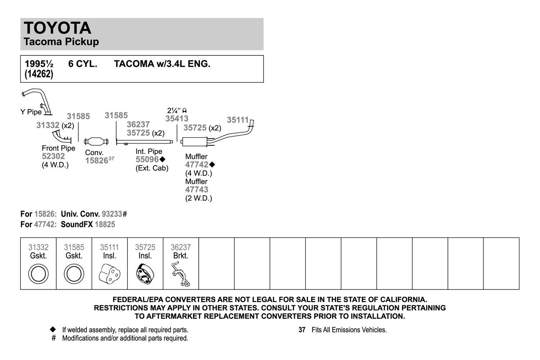 Walker 36237 Exhaust Bracket