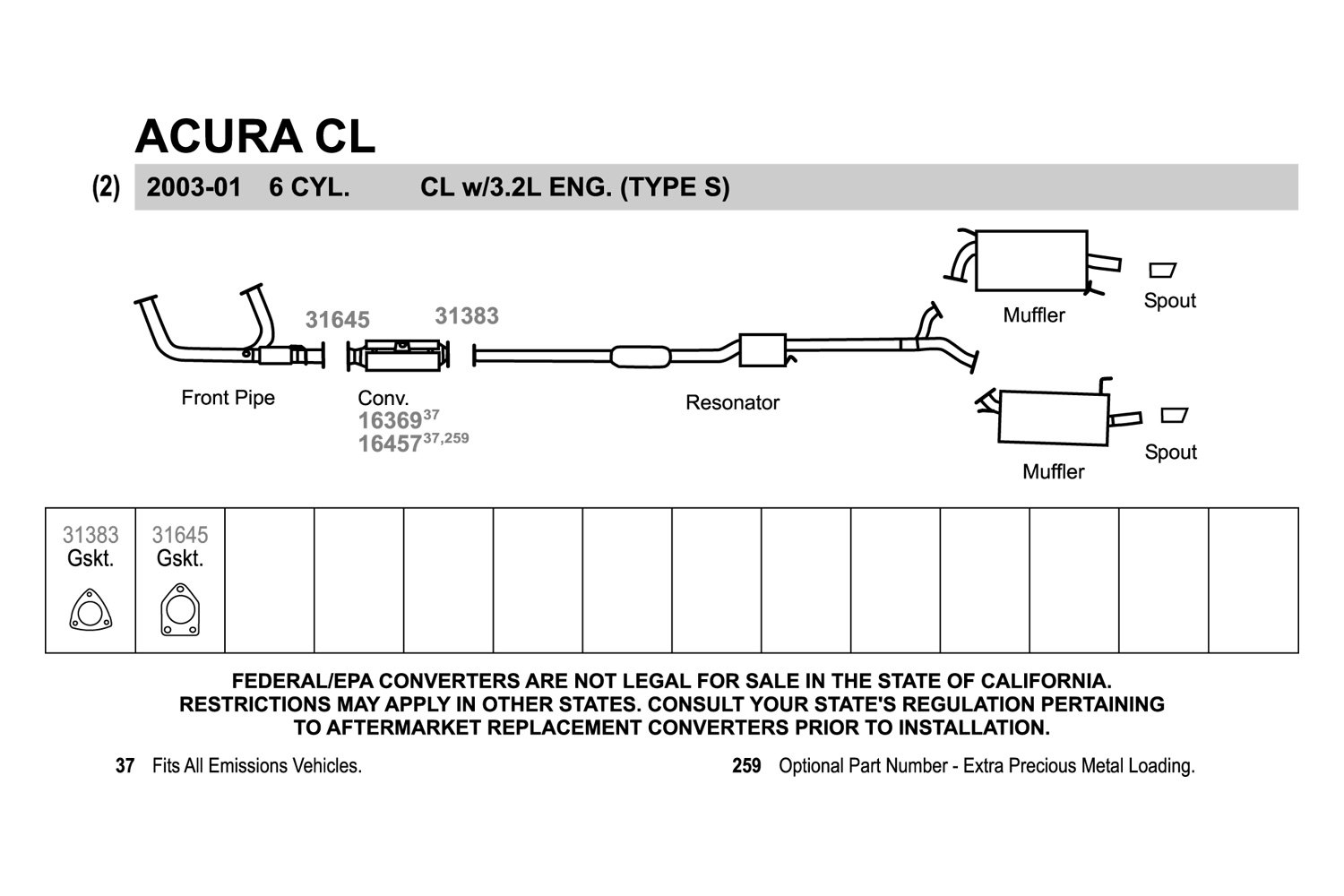 Acura Tl Exhaust Diagram Trusted Wiring Diagram - Acura tl exhaust system