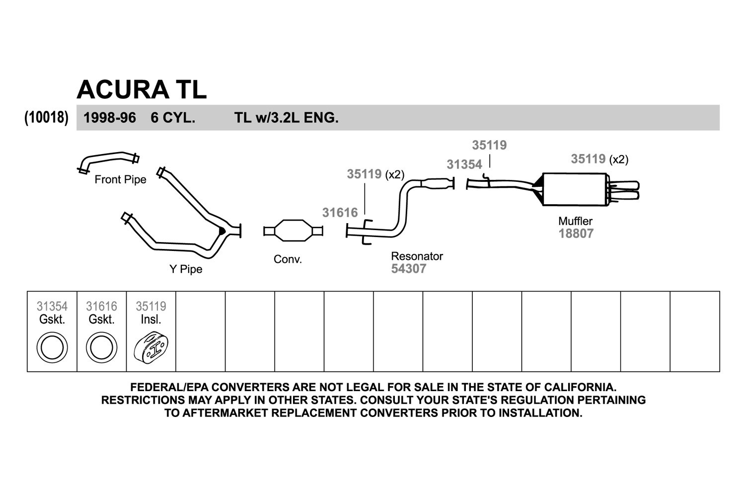 Acura Tl Exhaust Diagram Car Wiring Diagrams Explained - Acura tl exhaust system