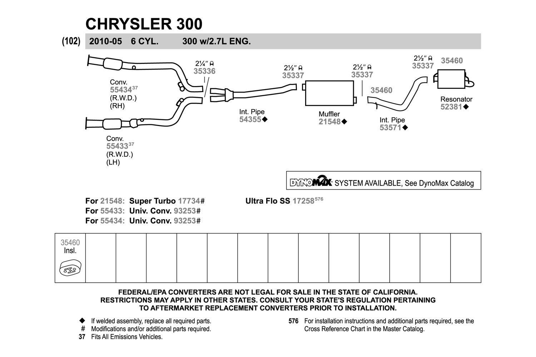 Walker 52423 Quiet-Flow Stainless Steel Muffler Assembly