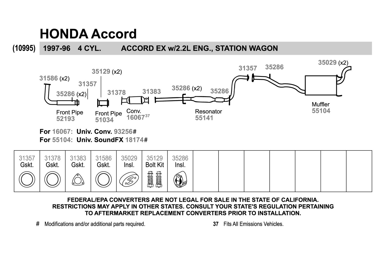 1992 honda accord exhaust diagram wiring diagram fuse box u2022 rh  friendsoffido co Honda Accord Transmission Diagram 92 Honda Accord Timing  Diagram