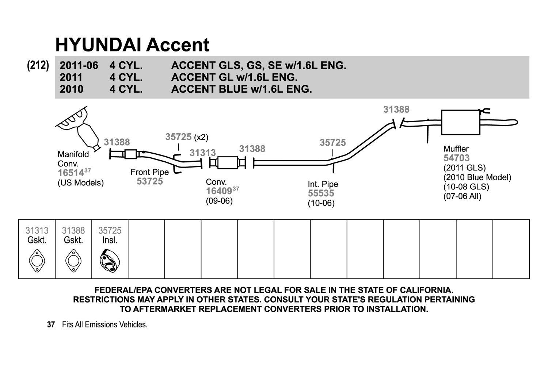 2010 Hyundai Accent Engine Diagram