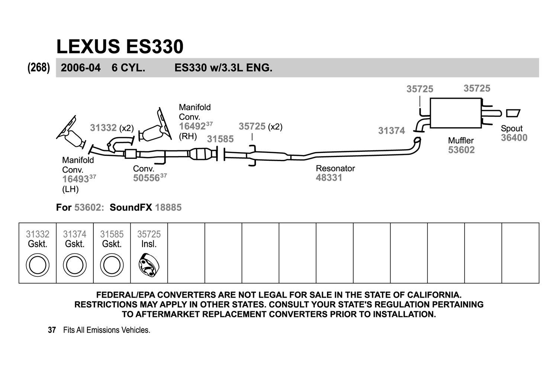 Exhaust Pipe Flange Gasket Walker 31585