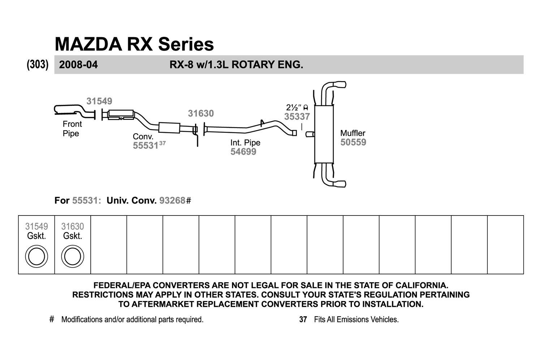 Fel-Pro 60957 Exhaust Flange Gasket