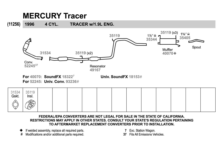 Walker 18153 Soundfx Aluminized Steel Round Exhaust 1989 Mercury Tracer Wiring Diagram Muffler