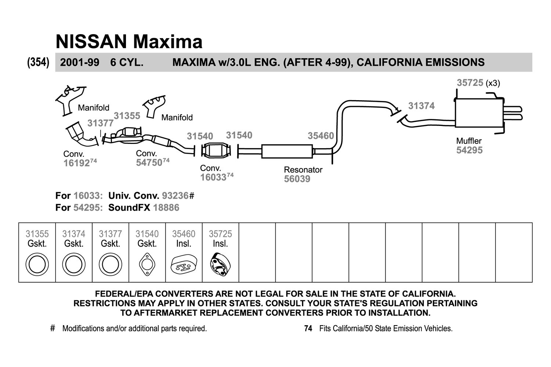 Walker 31374 Fiber And Metal Laminate Donut Exhaust Pipe Flange 2004 Toyota Solara Diagram Replacement Kit