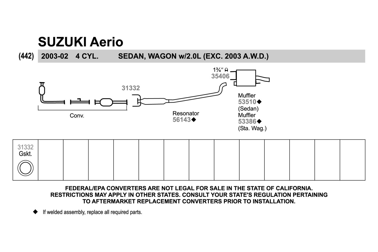 2003 Suzuki Aerio Exhaust Diagram Wiring Data Schema 2006 Fuse Walker Fwd Quiet Flow Stainless Steel Oval Rh Carid Com 2004 Sx
