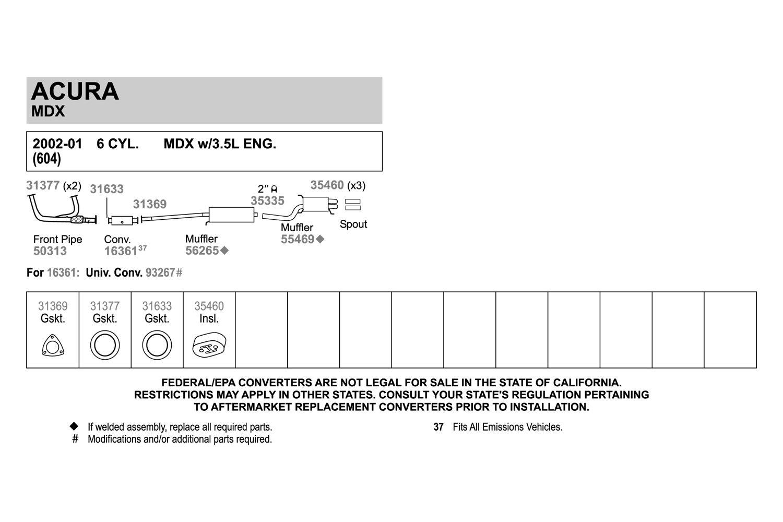 Exhaust Muffler Assembly-Quiet-Flow SS Muffler Assembly Front Walker 56265
