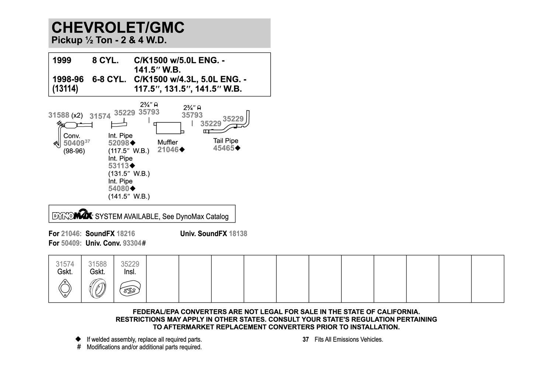 Exhaust Intermediate Pipe Walker 54080