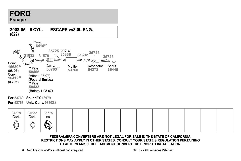 Walker 50433 Exhaust Y-Pipe