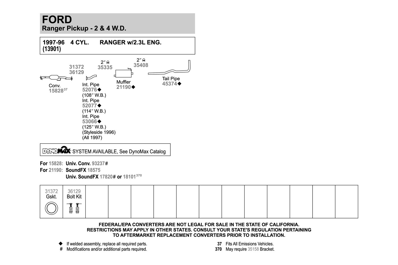 Walker® 36129 - Exhaust Spring Bolt Kit