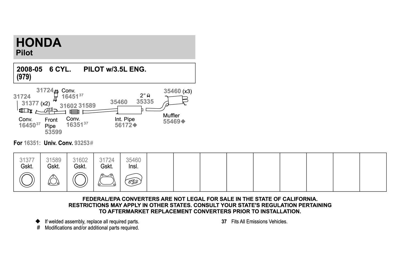Walker® 31602 - Metal with Fiber Core Donut Exhaust Pipe Flange Gasket