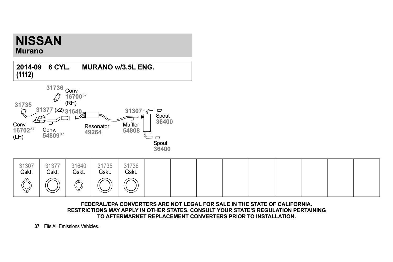 Walker 31307 Exhaust Gasket