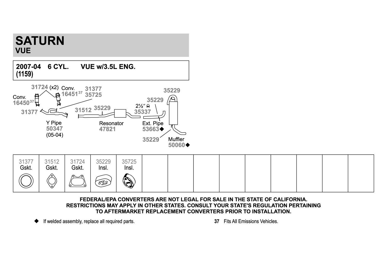 Walker® 31512 - Fiber and Metal Laminate 2-Bolt Exhaust Pipe Flange Gasket
