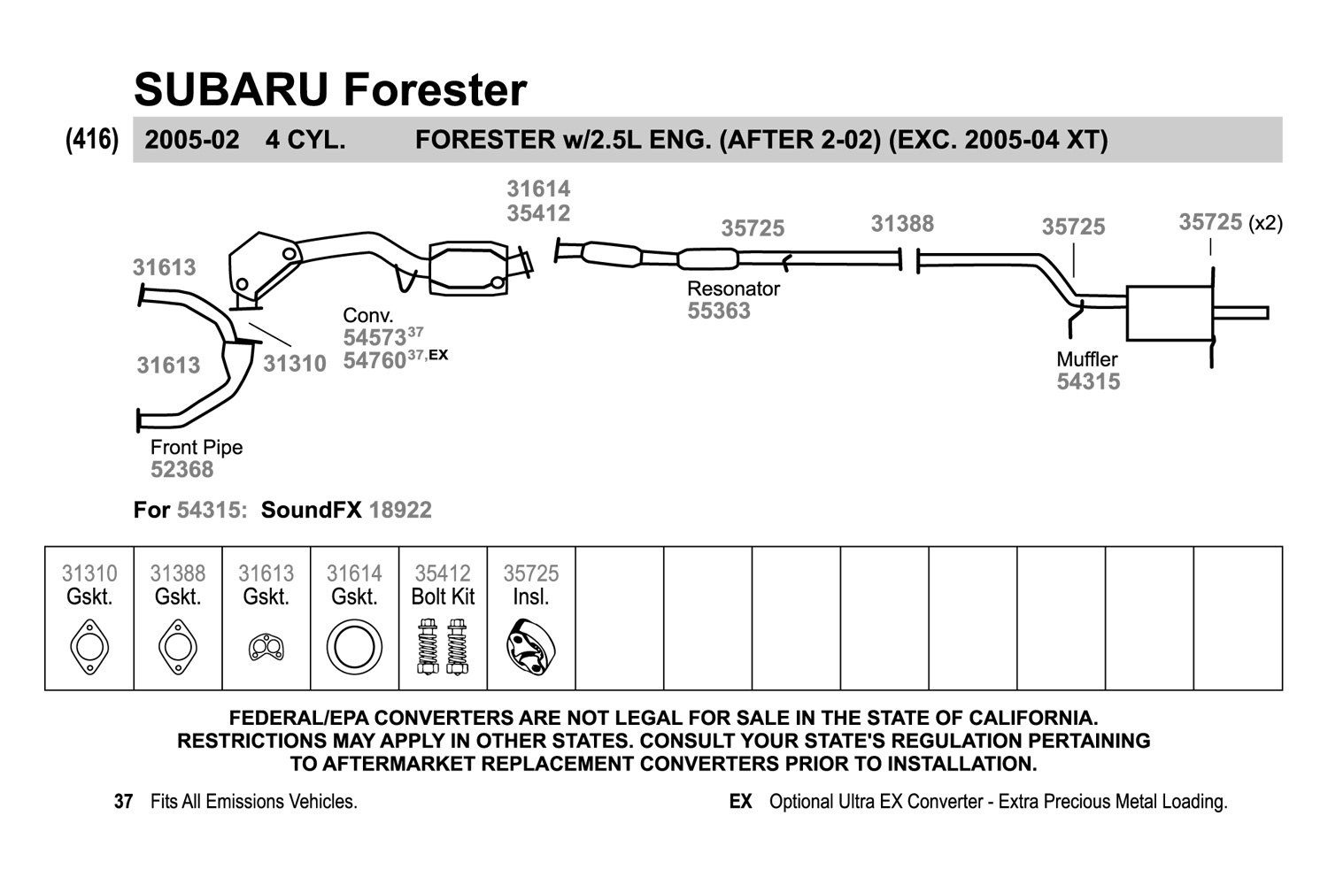 35 Subaru Forester Exhaust System Diagram