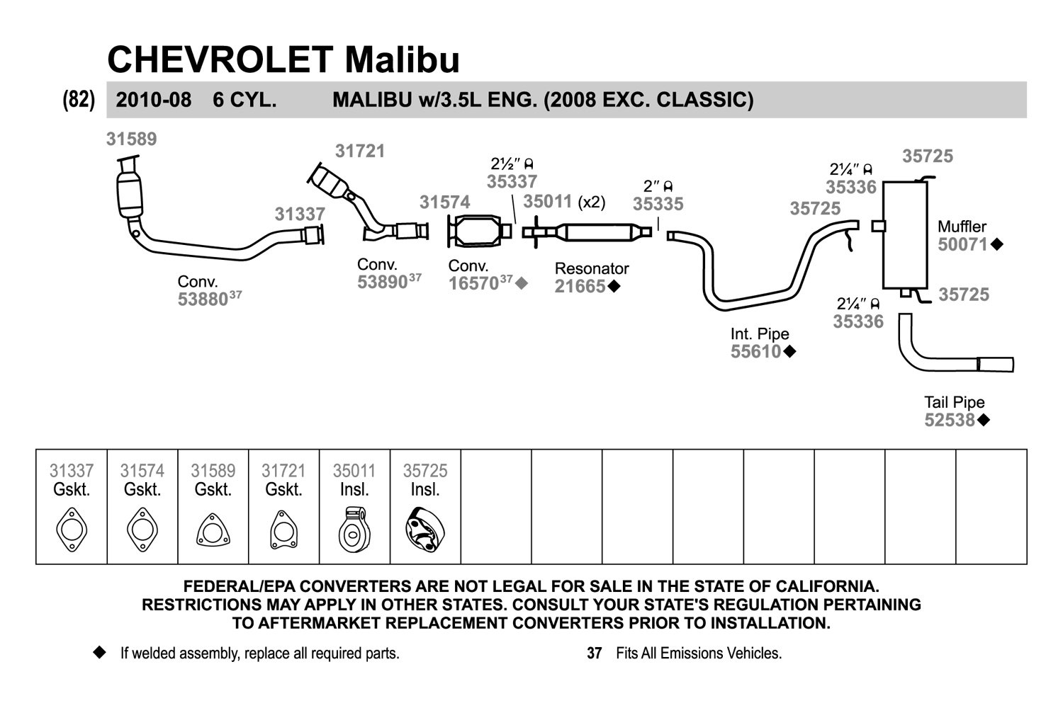 2001 Chevy Malibu Exhaust System Diagram Wiring Diagrams Engine Honda Accord Systems Performance Replacement
