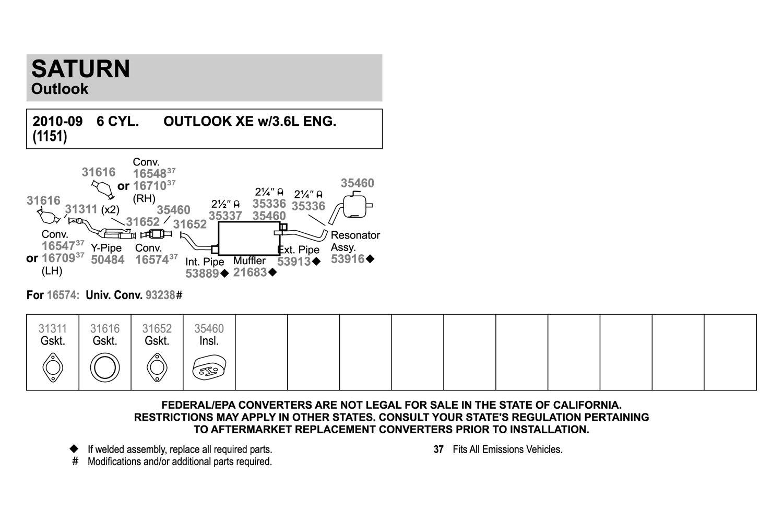 Walker 31652 Exhaust Gasket