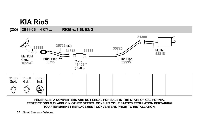 Walker 53725 Exhaust Pipe