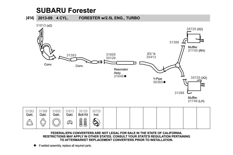 For Subaru Impreza 08