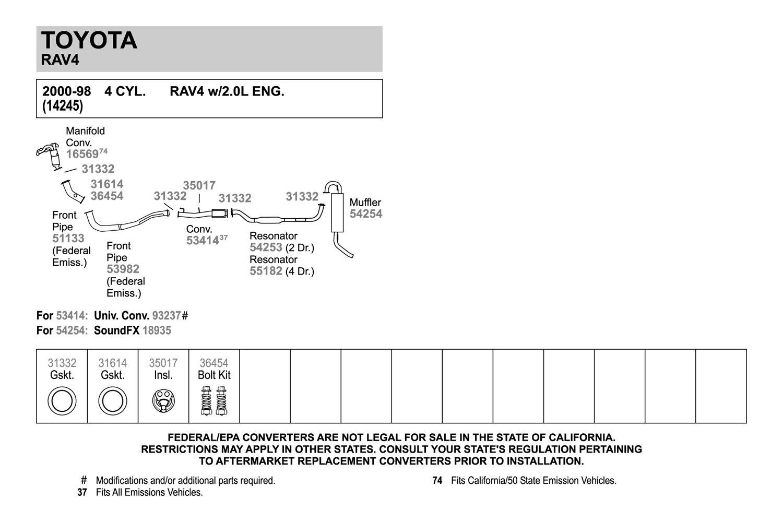 2000 toyota rav4 exhaust system diagram wiring diagram services \u2022 toyota truck wires 2001 toyota rav4 exhaust system diagram find wiring diagram u2022 rh ultradiagram today toyota matrix exhaust