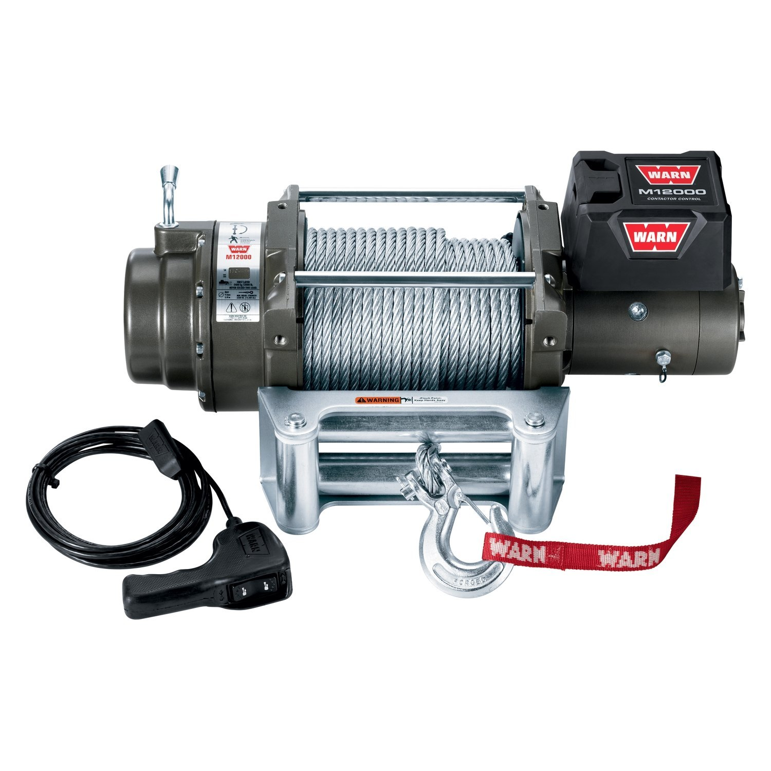 WARN 17801 12,000 lbs M Series Self-Recovery Electric Winch w Wire ...