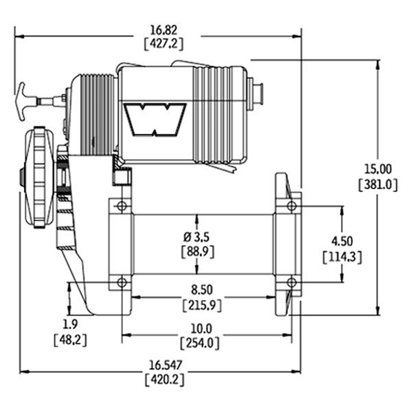 WARN® 38631 - 8,000 lbs M8274-50 Series Self-Recovery Electric Winch on