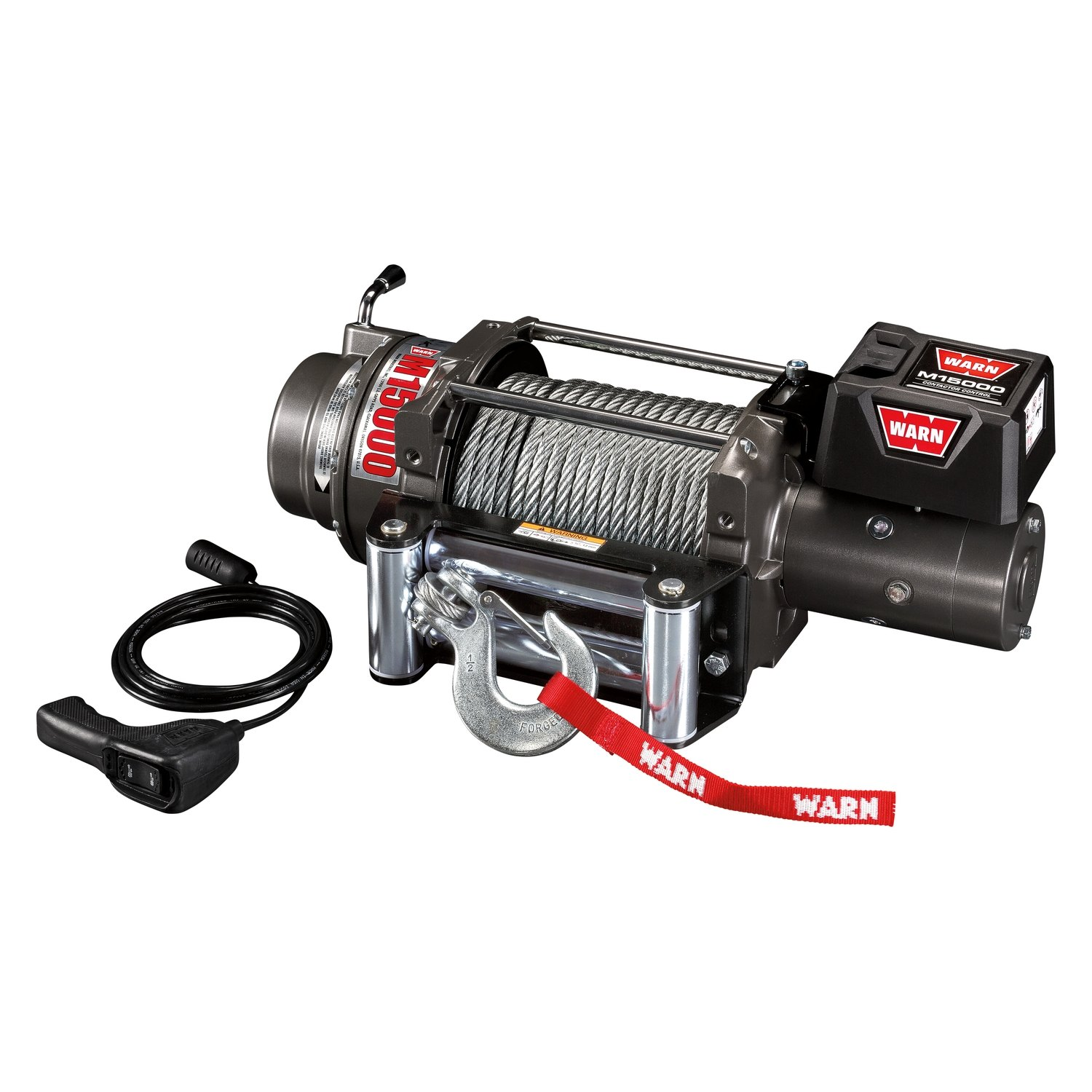 WARN® 47801 - 15,000 lbs M Series Self-Recovery Electric Winch with on