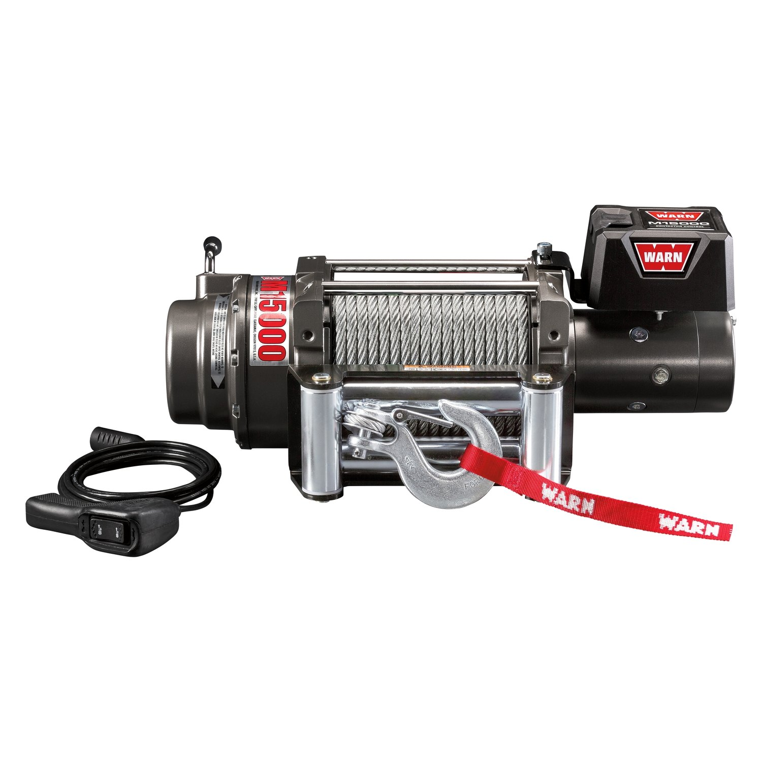WARN® 47801 - 15,000 lbs M Series Self-Recovery Electric Winch With ...