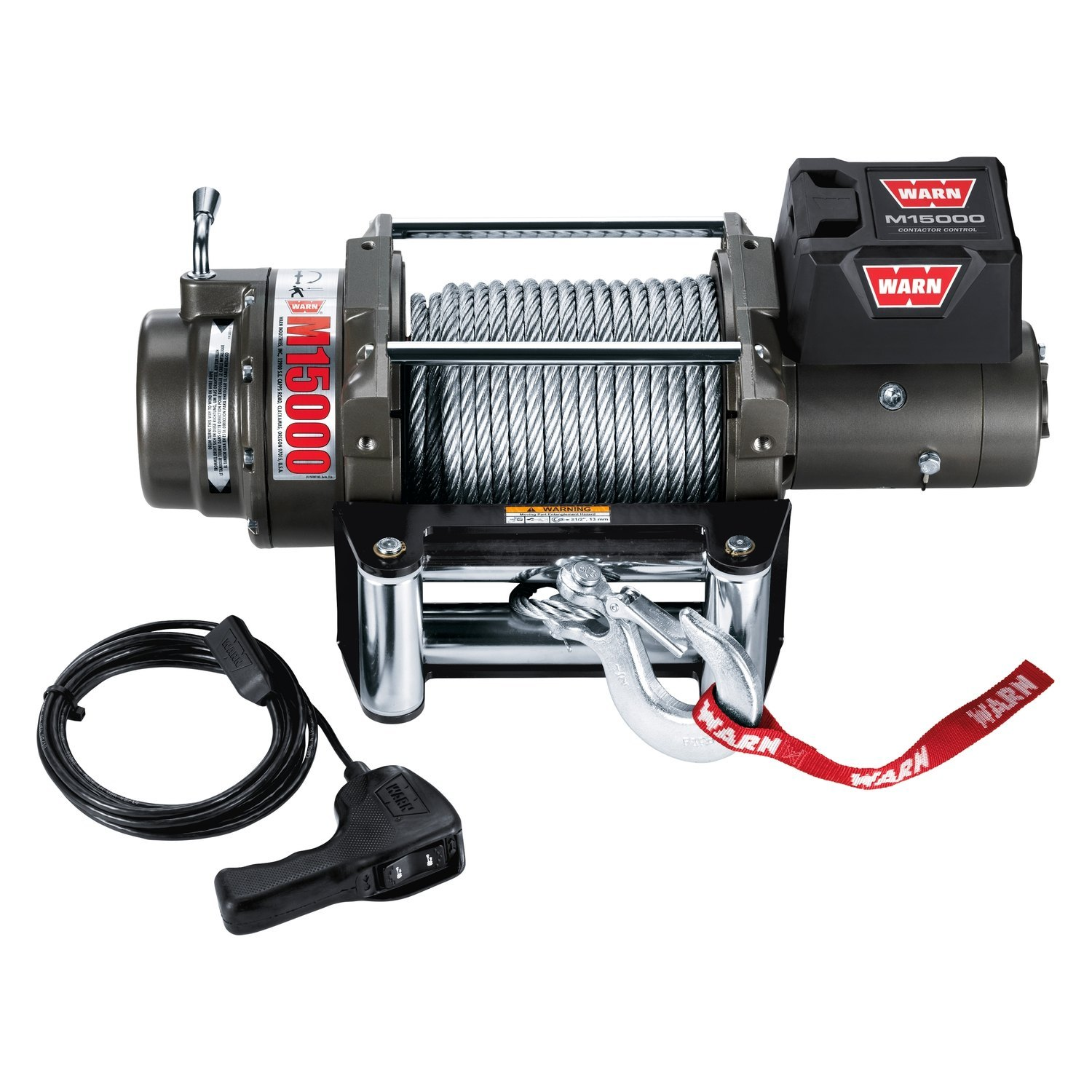 Warn 47801 15000 Lbs M Series Self Recovery Electric Winch With 5 Wire Control Wiring Diagram Rope