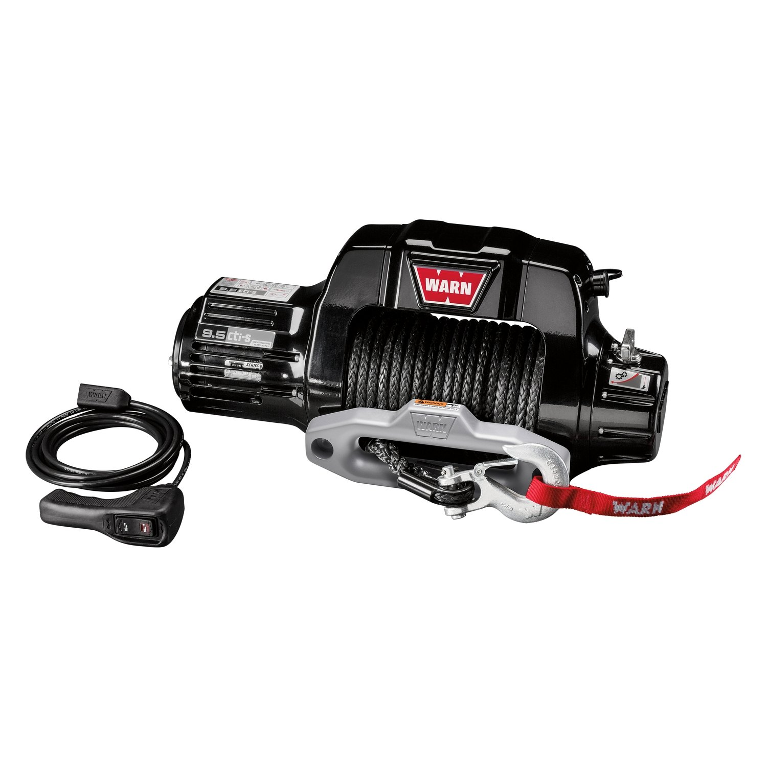 Warn 9500 Lbs 95cti Series Self Recovery Electric Winch 9 5cti Wiring Diagram With Wire Ropewarn Synthetic Spydura