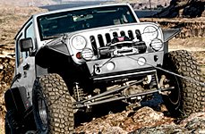 WARN® - Electric Off-Road Winch on Jeep Wrangler