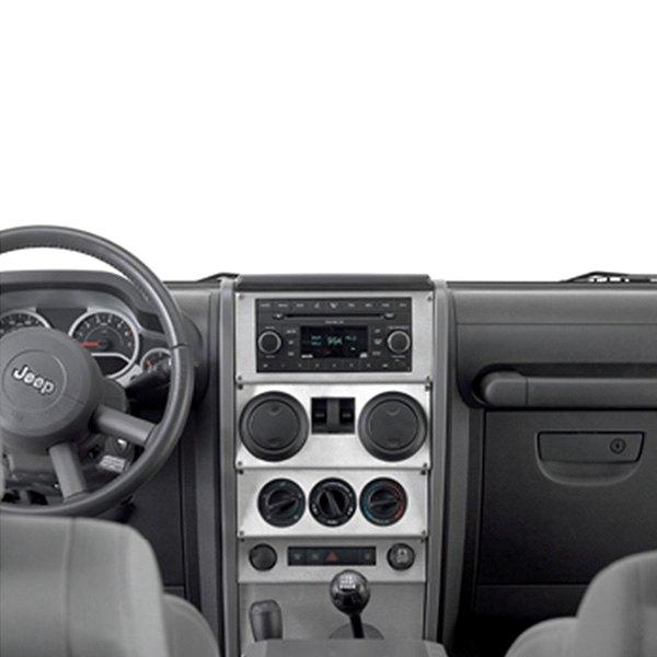 Warrior jeep wrangler 2007 center dash cover for Jeep wrangler interior accessories