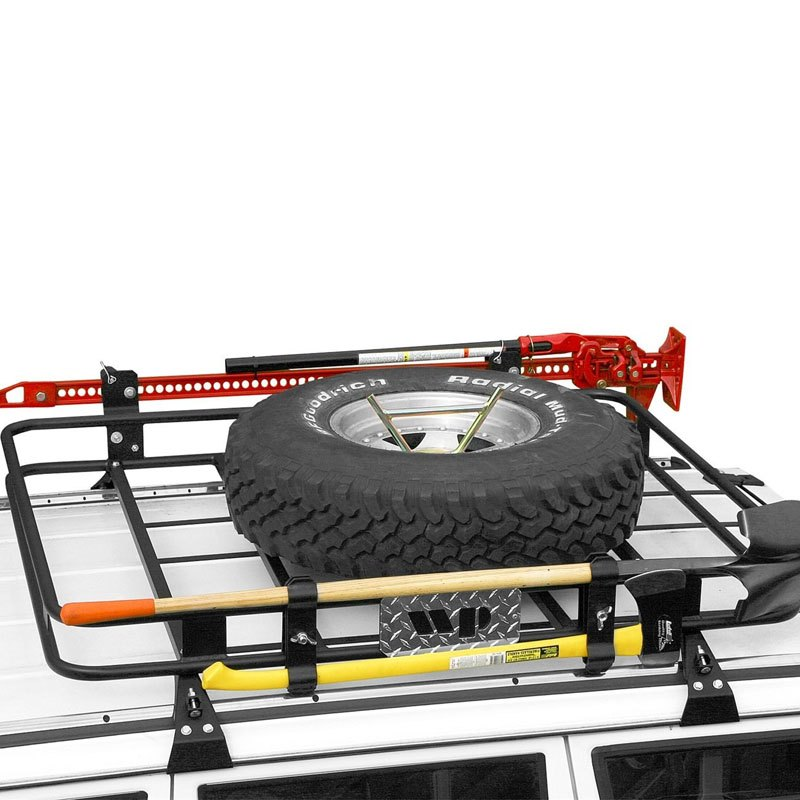 warrior 835 safari roof rack with gutter mounts ebay. Black Bedroom Furniture Sets. Home Design Ideas