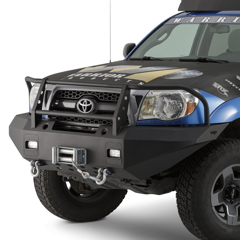 Warrior 174 4535 Full Width Black Front Winch Hd Bumper