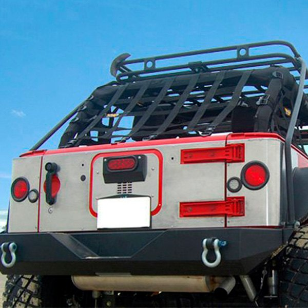 Warrior® 5923 - Heavy Duty Aluminum Center Tailgate Cover with Cut Out for  3rd Brake Light