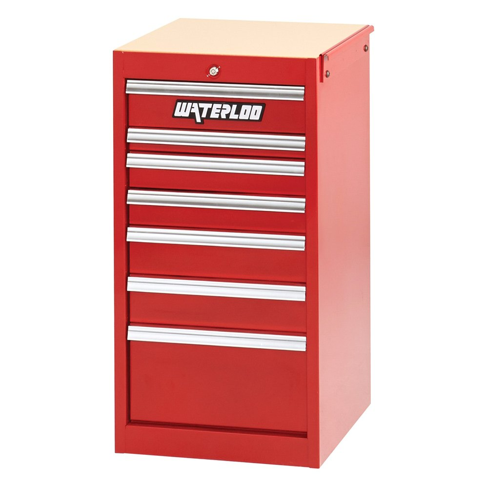 Waterloo Industries 174 Psc 18721rd 7 Drawer Side Cabinet Red