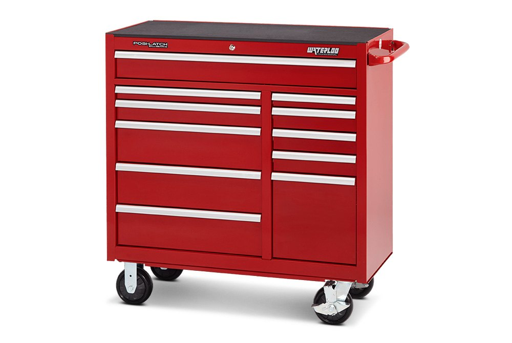 Attractive ... Waterloo®   46 Professional HD Series 12 Drawer Cabinet In Red Finish