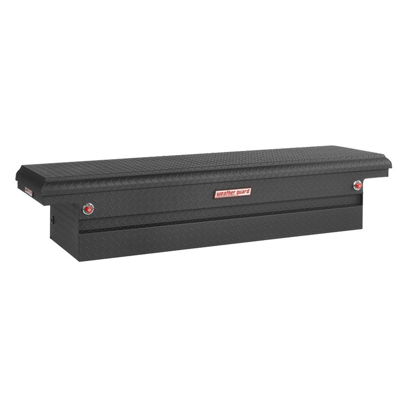 Low Profile Truck Bed Tool Box >> Weather Guard® 121-52-01 - Low Profile Single Lid Crossover Tool Box