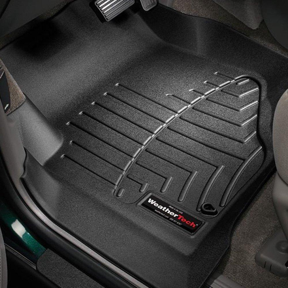 Weathertech 440071 digitalfit 1st row black molded for Auto flooring