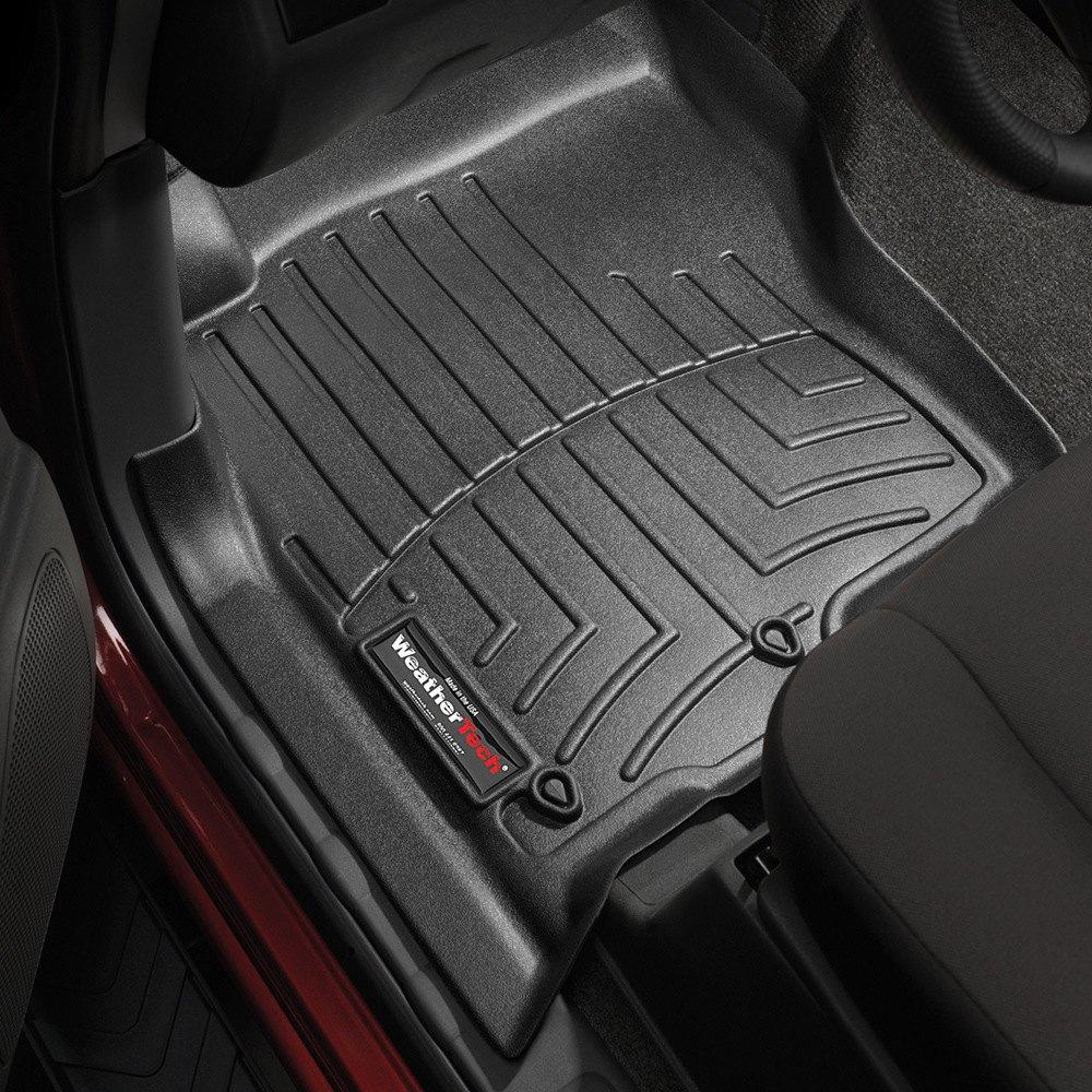 Weathertech floor mats tacoma - Weathertech 441801 Digitalfit 1st Row Black Molded Floor Liners