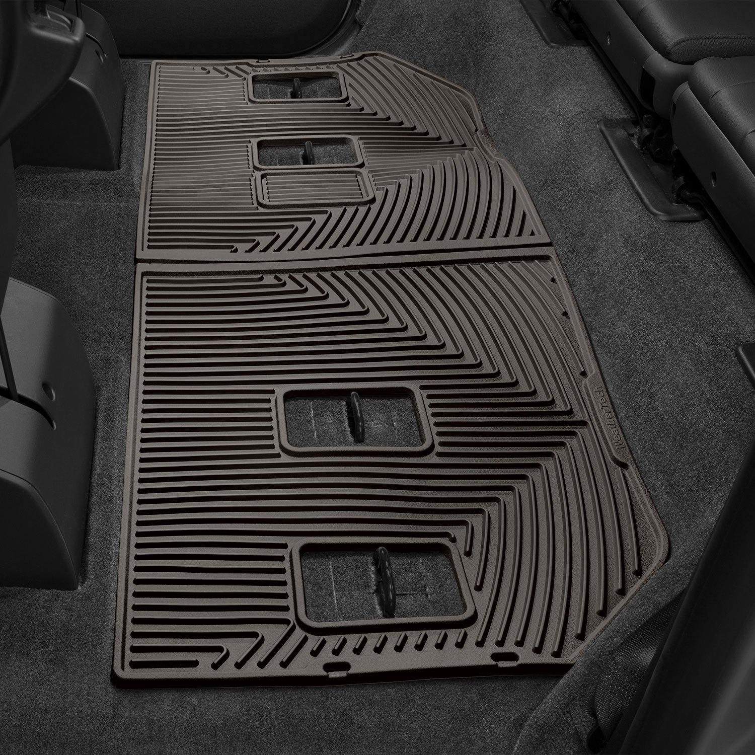 Weathertech 174 W264co All Weather 3rd Row Cocoa Floor Mats