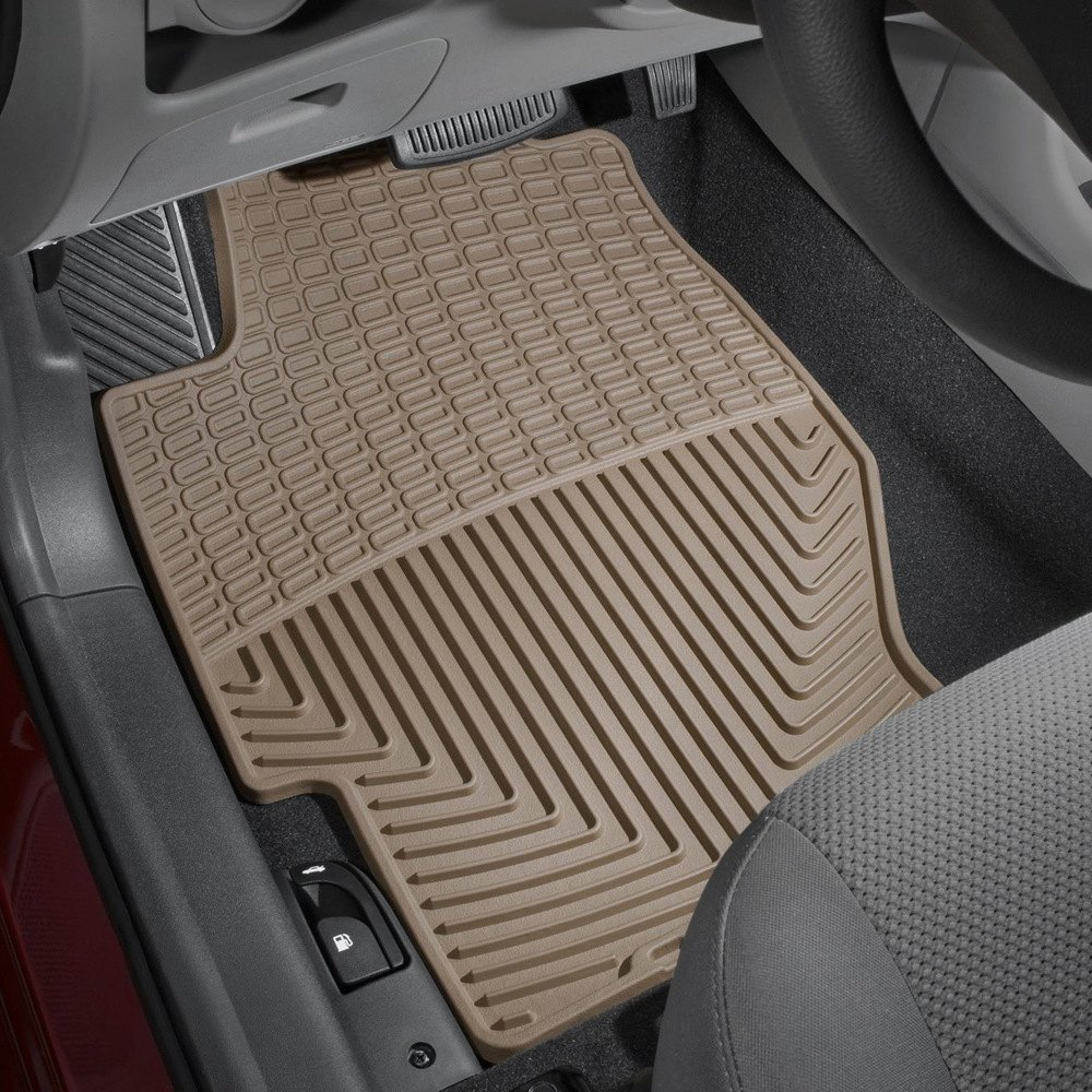 weathertech w34tn all weather 1st row tan floor mats. Black Bedroom Furniture Sets. Home Design Ideas