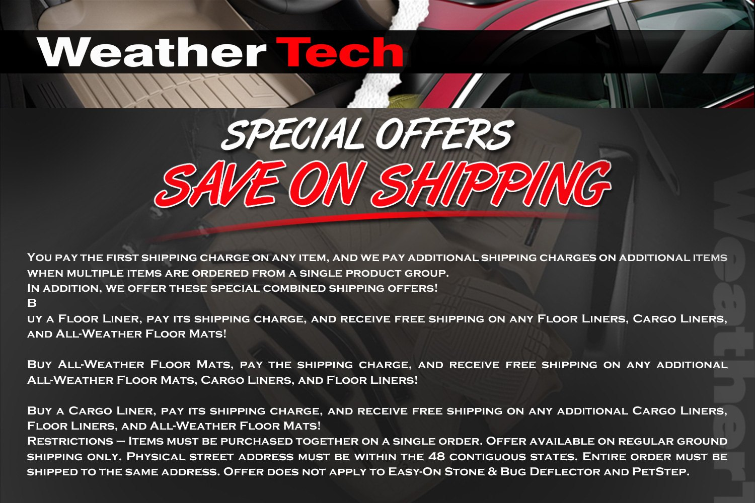 All Weather Protection. Unlike standard floor mats, these WeatherTech floor liners are designed to protect the entire floor pan and feature multi-level channels and grooves to trap mud, snow, and spills, making them perfect for All-Weather use.
