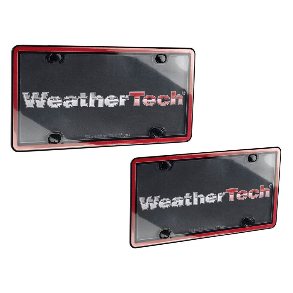 Weathertech 174 60022 Clearcover 174 Red Black License Plate