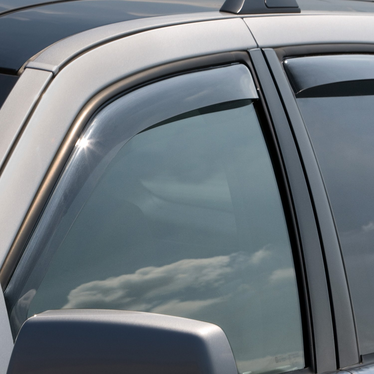 WeatherTech Custom Fit Front and Rear Side Window Deflectors for Toyota Camry Sedan Dark Smoke
