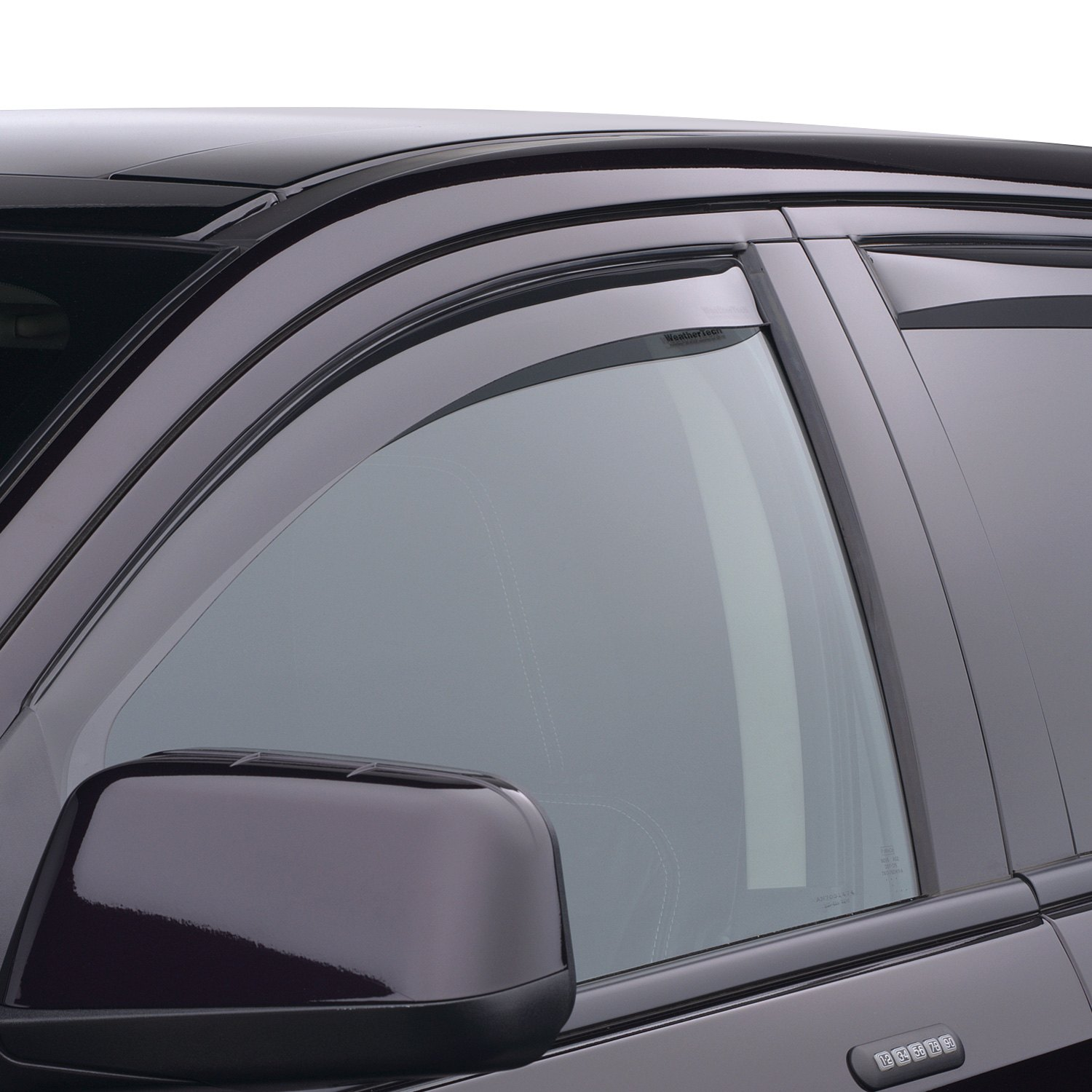 Lincoln MKX Full Set Dark WeatherTech Side Window Deflectors for Ford Edge