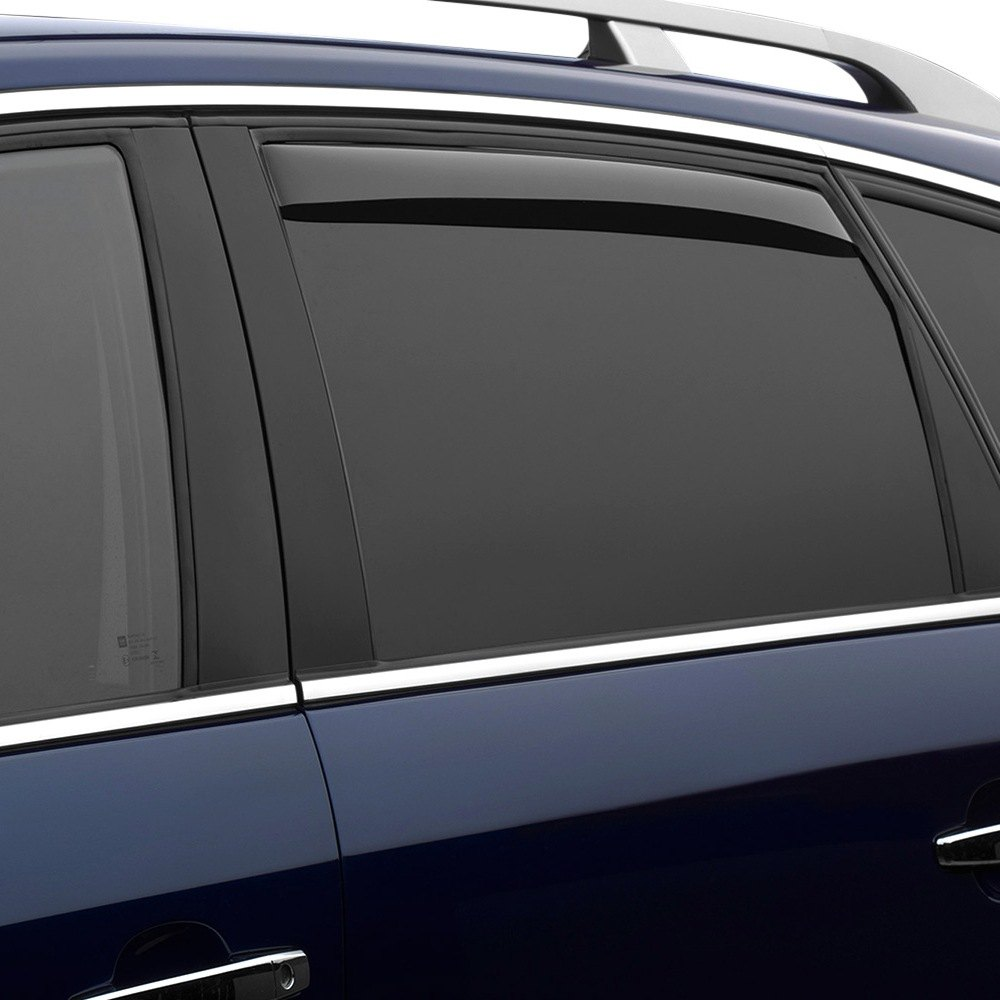 in channel light smoke rear side window deflectorsweathertech