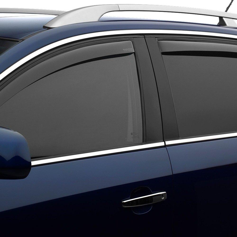 Weathertech Side Window Deflectors >> Weathertech In Channel Light Smoke Side Window Deflectors
